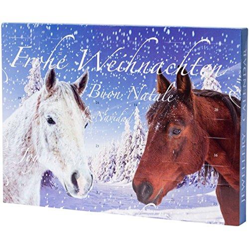 Pureday Calendario dell'Avvento con Illustrazioni di Cavalli per Bambine e Ragazzine, con Braccialetti, collane ciondoli e Perline
