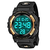Cool Gifts for 9-15 Year Old Boys Girls, SOKY LED 50M Waterproof Digital Outdoor Watches Electronic Toys for Kids 6-12 Teenager Christmas Gifts Stocking Stuffers for Girls Boys Teens Gold SKUSSWL1