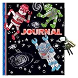 eeBoo Robot Diary Journal with Lock and Key for Boys