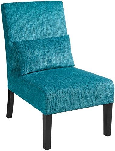 modern armless accent chair