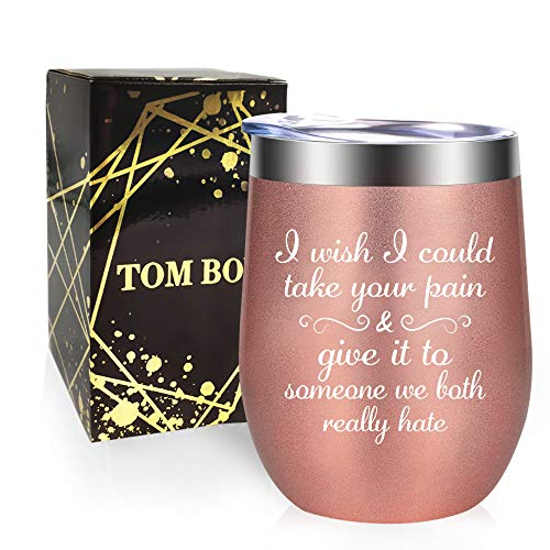 Tom Boy Get Well Gifts For Women Get Well Soon Gifts for Women After Surgery Gifts Ideas for Sick Women Wine Tumbler Cup
