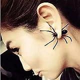 I LOVE DIY Boucles d'oreilles Fantaisie Araignée Costum Halloween Déguisement Femme Fille (1Paire)
