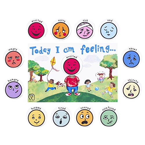 Today I am Feeling Chart Feelings and Emotion Magnetic Chart...
