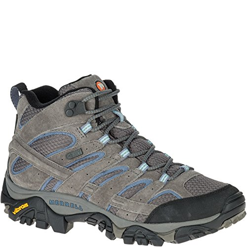 Merrell Women's Moab 2 Mid Waterproof Hiking Boot, Granite,...