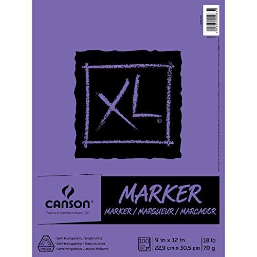 Canson XL Series–Marker Pad, 0, 9' x 12' (23 cm x 30 cm), 0, 1 uds. por paquete