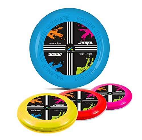 Jaspo Frisbee Flying Unbreakable Disc Toy for Kids Plays in Backyard Indoor/Outdoor with Dia 23cms Multicolored Pack Also Suitable for Dogs & Pets
