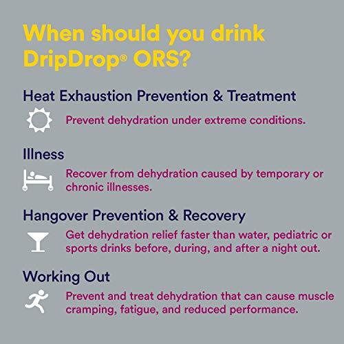 DripDrop ORS Electrolyte Hydration Powder Sticks Variety Pack (12 Lemon/10 Berry/10 Watermelon) 10g Sticks, 32 Count 7