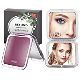 Compact Makeup Mirror, Beyond 2-sided with 7X Magnifying Mirror and 1x Mirrors, Pocket-size Handheld Mirror for Purses and Travel