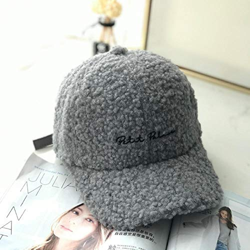 MedusaABCZeus Nuovo Cappello Invernale da Donna alla Moda,Lamb Hair Baseball cap, Warm...