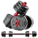 Weight Dumbbell Set Adjustable Dumbbells –Premium Dumbbell Barbell Combo For Fitness – Weight...