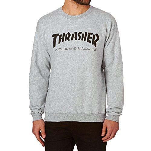 THRASHER Skatemag Crew Sudadera, Unisex Adulto, Gray, M