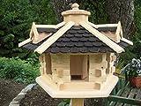 Vogelhaus-Vogelhäuser Vogelfutterhaus Vogelhäuschen aus Holz Vogelhausständer Nistkasten Schreinerarbeit in unterschiedlichen Farben erhältlich … (Vogelhaus V31)