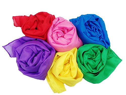 Silky Scarves for Pretend Play and Dress-Up