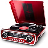 ION Audio Mustang LP - Chaîne Hi-Fi Rétro Ford Mustang 4-en-1 avec...