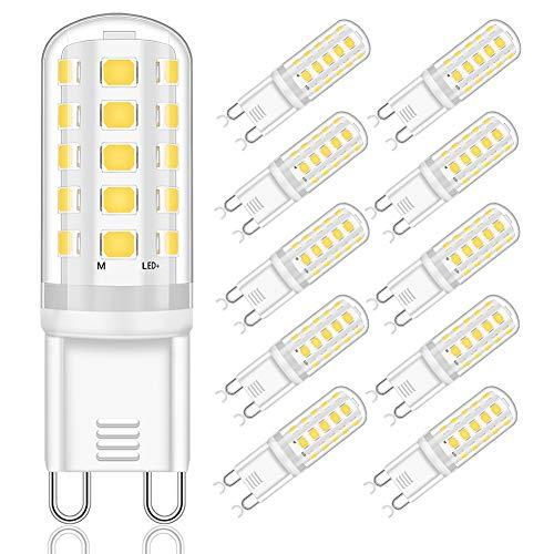 Lampadina LED G9 5W Equivalente a 33W 40W 50W Lampada Alogena, Bianco Naturale 4000K, Lampadine G9 Con Attacco G9, 400LM, Nessun Sfarfallio, Non-Dimmerabile, AC 220-240V, confezione da 10