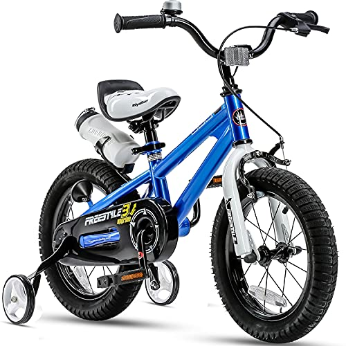 "Royalbaby Kids Bikes 12"" 14"" 16"" 18"" Available, BMX Freestyle Bikes, Boys Bikes, Girls Bikes, Best Gifts for Kids. (Blue, 16 inch)"