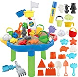 deAO Mesa de Agua y Arena Mesita Infantil para Juegos y Actividades Infantiles al Exterior Incluye...
