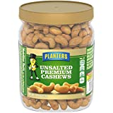 Planters Unsalted Cashews (26 oz Canister)