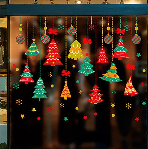 Takarafune ウォールステッカー クリスマス ショーウインドー 窓飾り 壁紙 クリスマス 装飾 クリスマスツリー