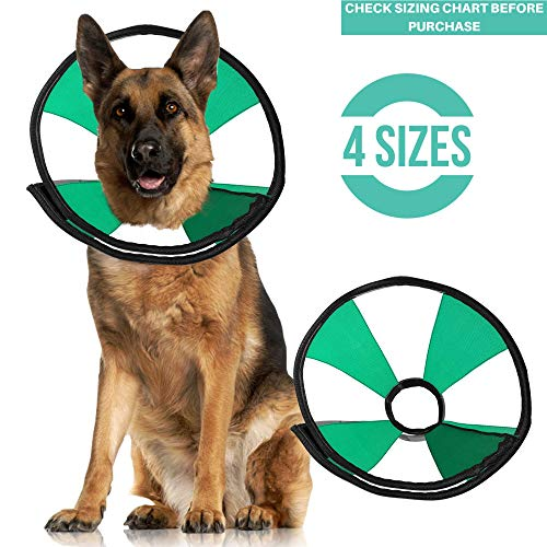 ProCollar Pet Recovery Cone E-Collar for Dogs and Cats - Always Use with Your Pet's Everyday Collar - Comfortable Soft Collar is Adjustable for a Secure and Custom Fit (X-Large)