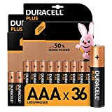 Duracell Plus, lot de 36 piles alcalines Type AAA 1,5 Volts LR03 MN2400