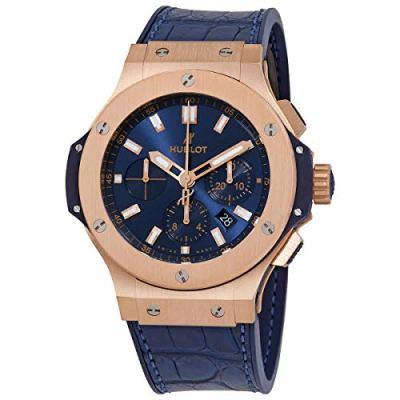 Hublot Big Bang 44mm Rose Gold Blue Watch 301.PX.7180.LR