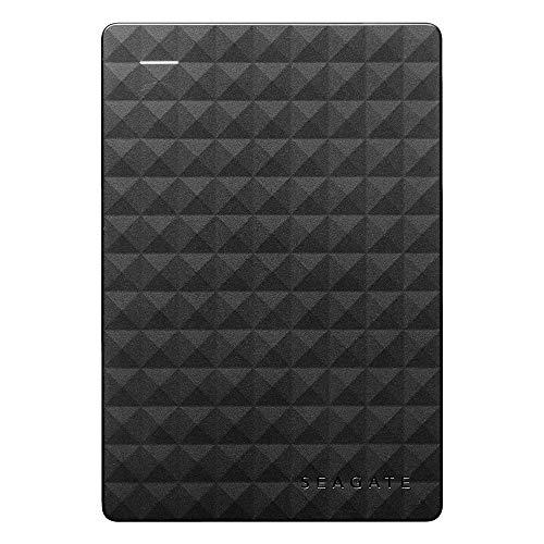 Seagate Expansion Portable, 1 TB, Disco duro externo, HDD, USB 3.0 para PC, ordenador portátil y Mac, 2 años de servicios Rescue (STEA1000400)