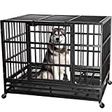 ITORI 48'' Heavy Duty Metal Dog Cage Kennel Crate and Playpen for Training Large...