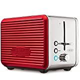 BELLA 14093 LINEA 2 Slice Toaster with Extra Wide Slot, Color Red