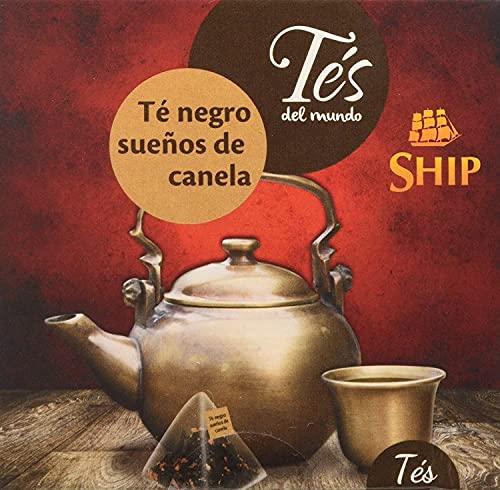 Ship - Té Pirámide Sueños de Canela en Caja de 15 unidades - Con Funda - Aumenta las Defensas, Acelera el Metabolismo - Gran Afrodisíaco Natural - Propiedades Antioxidantes - Infusiones y Tes