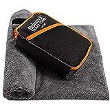 Rainleaf Travel Towel,Perfect Dry Towel,Microfiber Bath Towel,Swimming Towel,Backpacking Towel,Gray 34'x60'