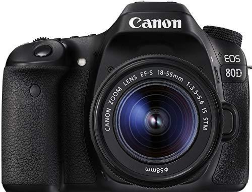 Câmera Canon DSLR EOS 80D com Lente 18-55mm