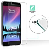 Gotd Tempered Glass Screen Protector Protective Film Cover for LG K10 2017 (Clear)