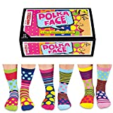 United Oddsocks - Coffret 6 Oddsocks Femme 4-8 UK (Pois Face)