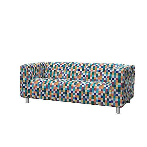 Soferia Fodera Extra Ikea KLIPPAN Divano a 2 posti, Tessuto Mozaik White