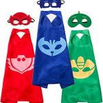 Funhall-Costumes-and-Dress-up-for-Kids-Capes-and-Masks-for-Catboy-Owlette-Gekko-Green