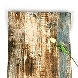 Holztapete, braun, selbstklebend, Streifen, abziehen und aufkleben, gek|rntes Kontaktpapier, rustikal entfernbare Tapete, 45 x 500 cm