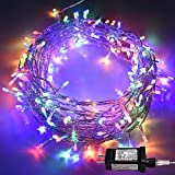 Indoor String Lights, HONGM Waterproof Fairy Light 8 Modes 100 LED 49.2 Feet Decorative Lights Plug in 30V Transformer Safe Voltage for Bedroom, Patio, Wedding, Party (Multi-color)