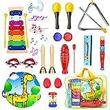 Paochocky 23Pcs Instrumentos Musicales Juguetes Musicales percusión Instrumentos para Niños, Regalo del de Niño