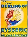 PostersAndCo ™ BERLINGOT de CARPENTRAS Rkpg-Poster 50x70cm* (sur Papier 60x80cm) d1 Affiche Vintage