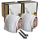 20 Inch Bike Tire Packages for Kids and BMX Tires. Fits 20x1.75 Bike Tube, Tire, Rims, Front or Rear Wheels. Includes Tire Tools. with or Without Tubes. 1 Pack or 2 Pack. White (2 Tires - No Tubes)