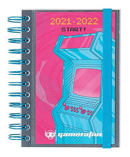 Agenda Gameration 2021-2022 - Agenda escolar 2021-2022 / Agenda 2021 día por página - Agenda 11 meses desde Agosto de 2021 a Junio de 2022 | Producto licencia oficial - Agenda Kalenda