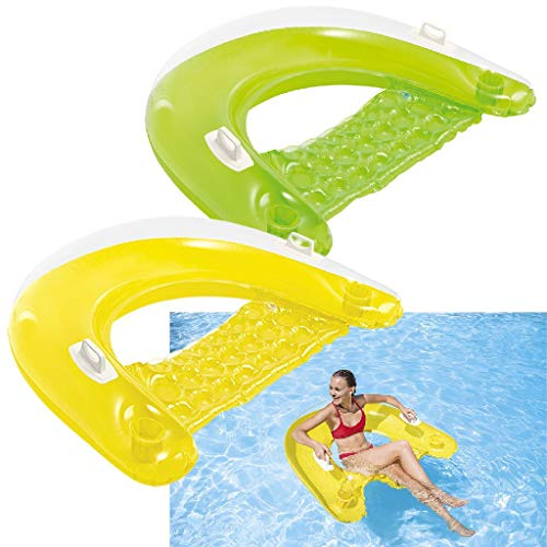 Intex Sit \'N Float - Aufblasbarer Schwimmsessel - 152 x 99 cm - farblich sortiert