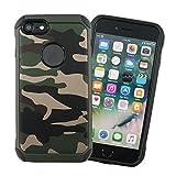 iPhone 7 / iPhone 8 / iPhone SE (第2世代) ケース グリーン 迷彩 柄 ミリタリー 衝撃 吸収 ……