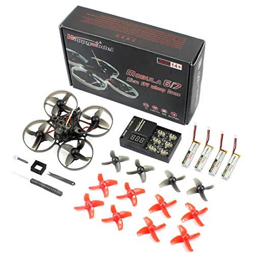 GEHOO GH Happymodel Mobula7 75mm Crazybee F3 PRO OSD 2S Whoop FPV Racing Drone con Upgrade BB2 ESC 700TVL BNF (Frsky Non-EU, Standard Version)