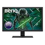 BenQ GL2780 - Monitor Gaming de 27' FullHD (1920x1080, 1ms, 75Hz, HDMI, DisplayPort, DVI, VGA, Altavoces, Eye-care, Sensor Brillo Inteligente, Flicker-free, Low Blue Light, antireflejos) - Color Negro