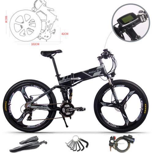 RICH BIT Bicicleta de Montaña Eléctrica, Unisex Adulto, Urbana...