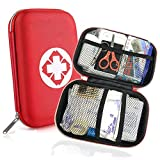 Trousse de Premier Secours 18 Articles, Rouge Semi-Rigide Mini Box Sac...