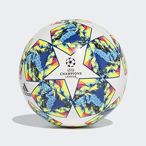adidas Jungen Finale 19 CPT Turnierbälle für Fußball, top:White/Bright Cyan/solar Yellow/Shock pink Bottom:Collegiate royal/Black/solar orange, 5