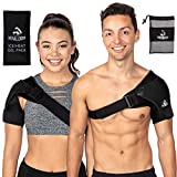 Shoulder Brace with Ice Pack for Men and Women for Support and Pain Relief- Use as Compression Sleeve and...